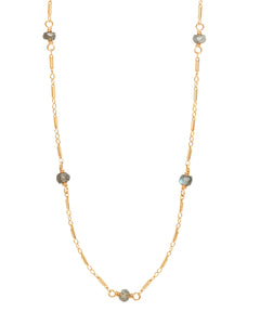 The Posh 2 in 1 Necklace+Bracelet - Labradorite