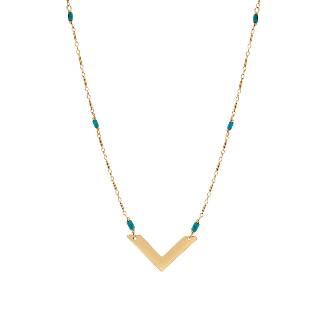 The Chevron Necklace - Turquoise