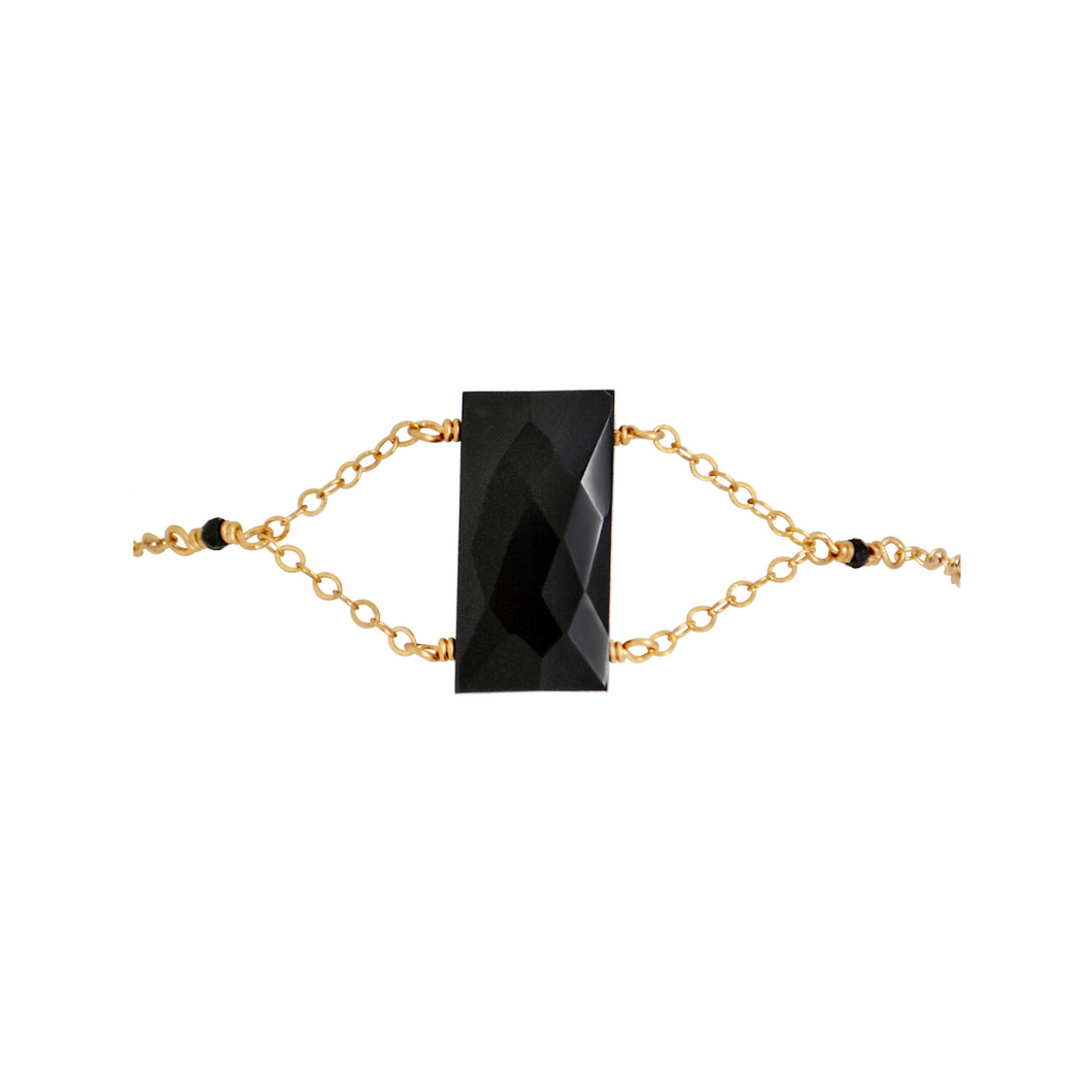 The Cleopatra Bracelet - Black Chalcedony
