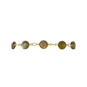 The Coin Bracelet - Labradorite