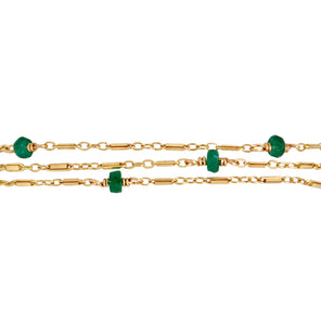 The Posh 2 in 1 Necklace+Bracelet - Emerald