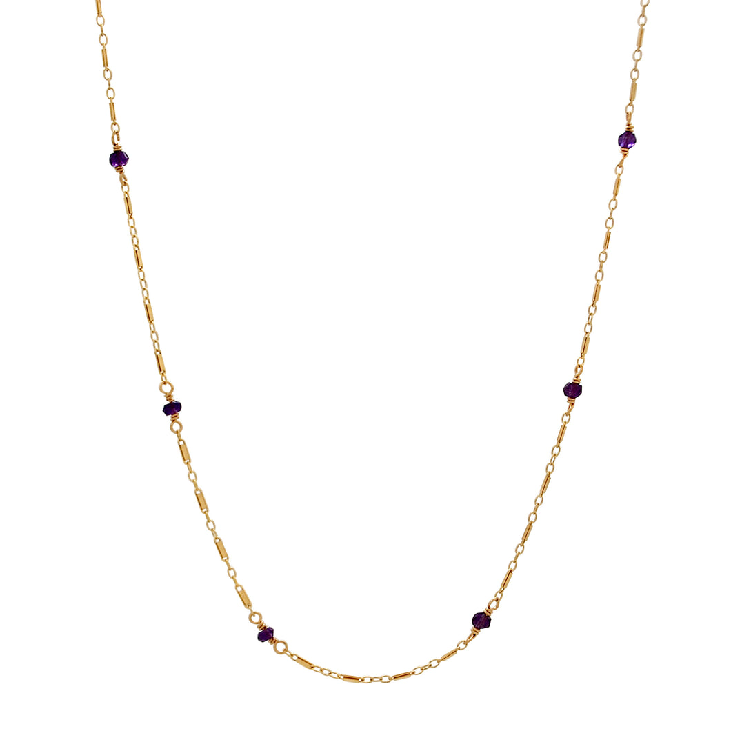 The Posh 2 in 1 Necklace+Bracelet - Amethyst