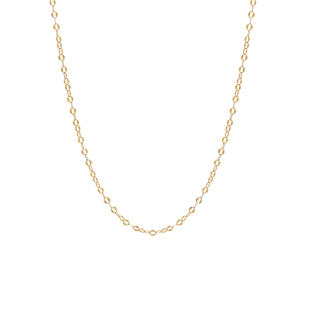 The Shimmer Oval Link Necklace