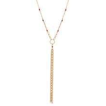 The Sultry Summer Y Necklace - Coral