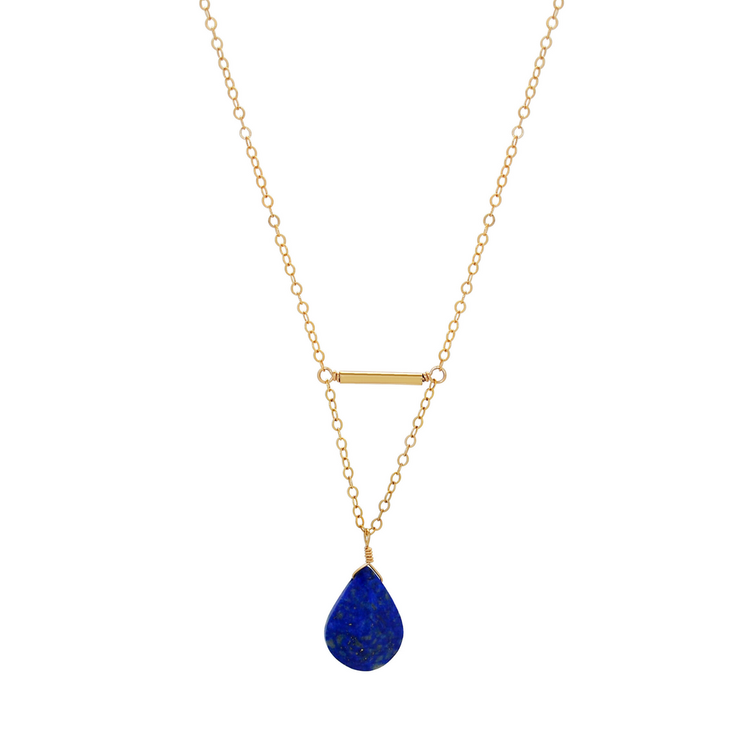 The Triangle Necklace - Lapis