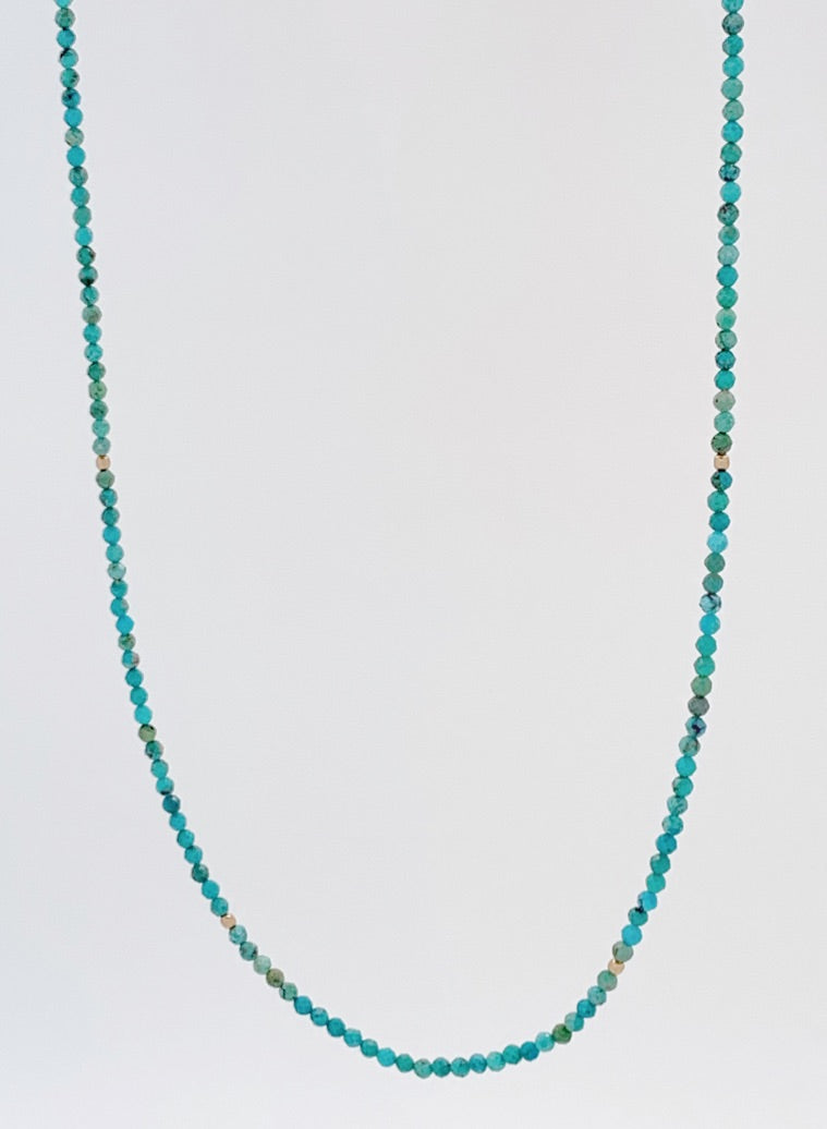 The Turquoise Strand 2 in 1 Necklace + Bracelet