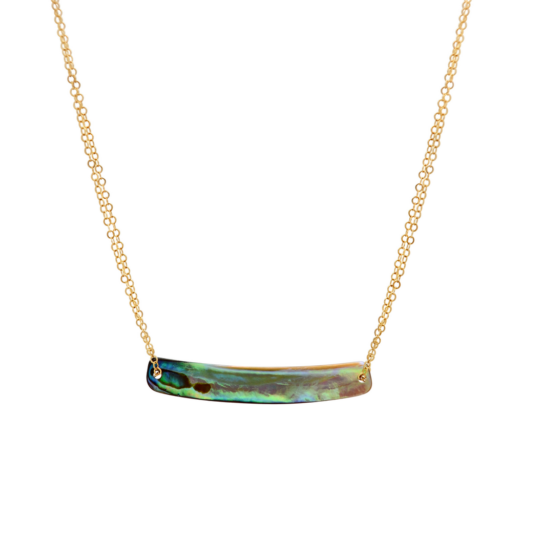 The Abalone Bar Necklace