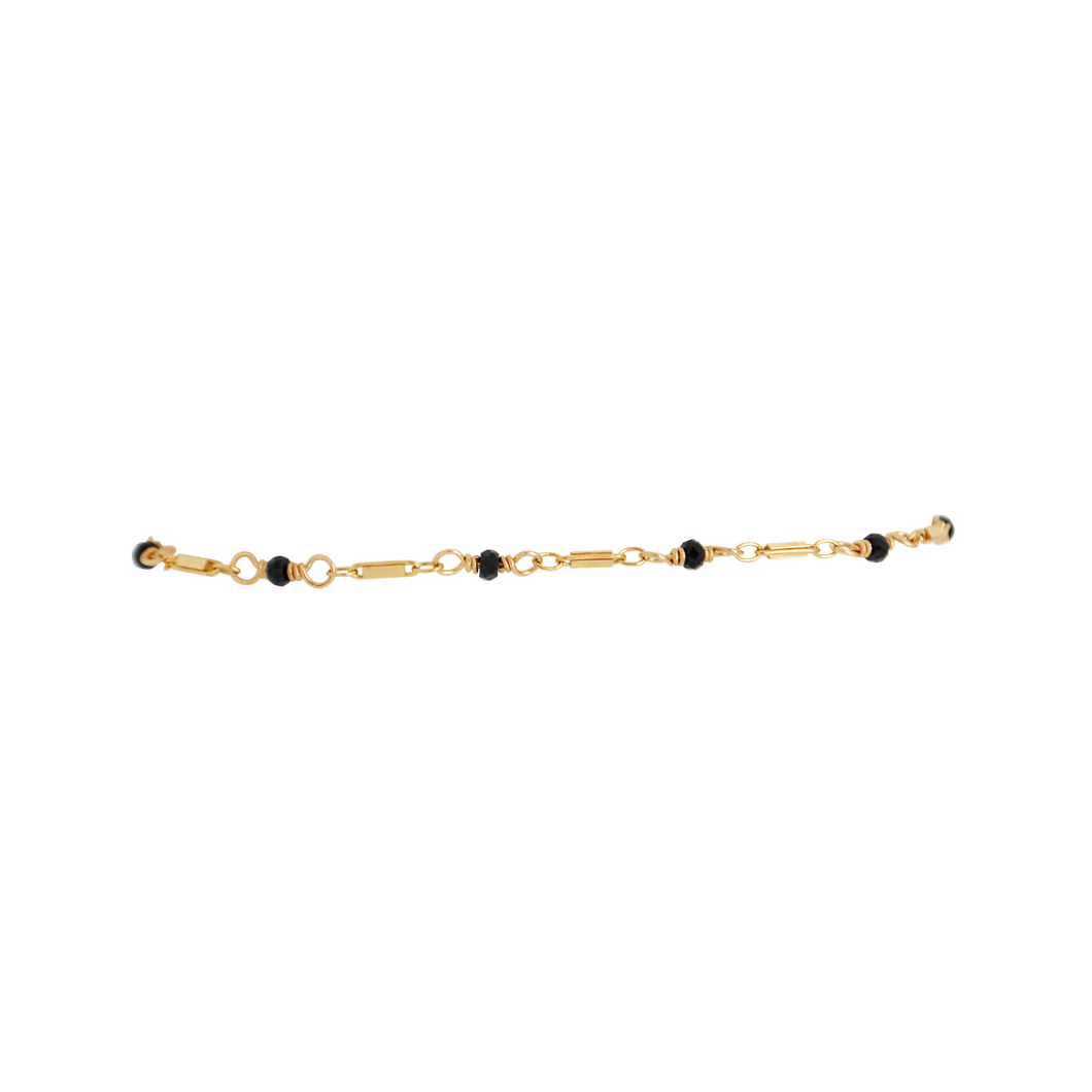 The Black Beauty Bracelet - Black Spinel