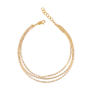 The Draped Dainty Chain Anklet