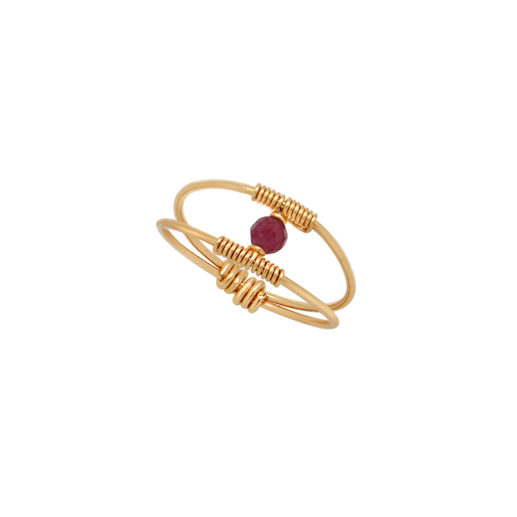The Dainty Wire Wrapped Ring - Pink Tourmaline