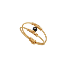 The Dainty Wire Wrapped Ring - Black Spinel