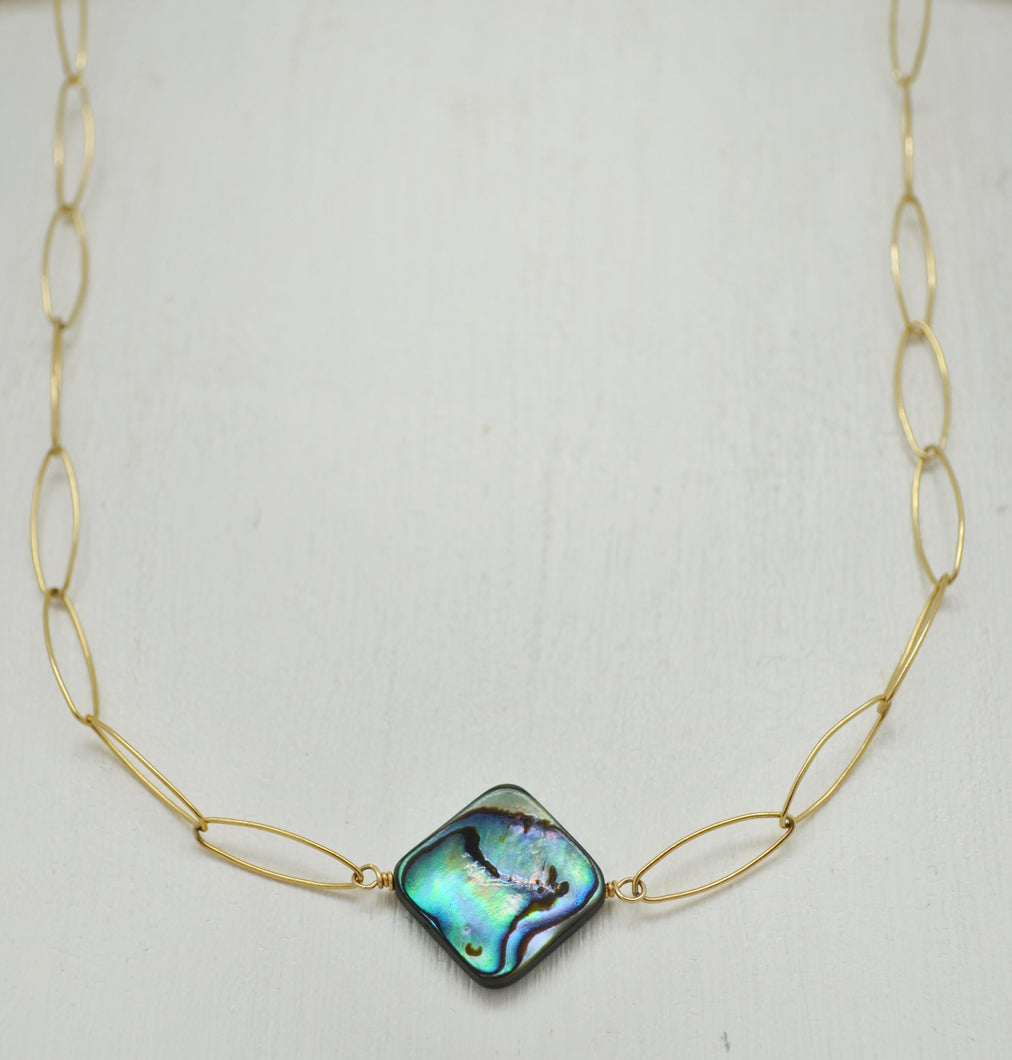 The Abalone Diamond Necklace
