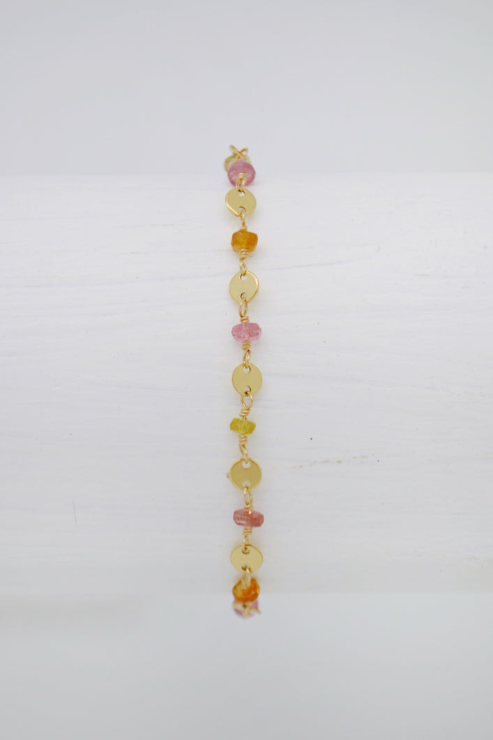 The Sunset Hues Tourmaline Bracelet
