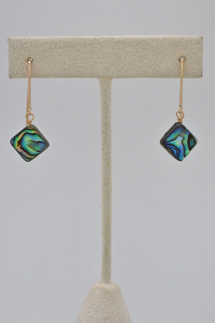 The Abalone Diamond Hook Earrings