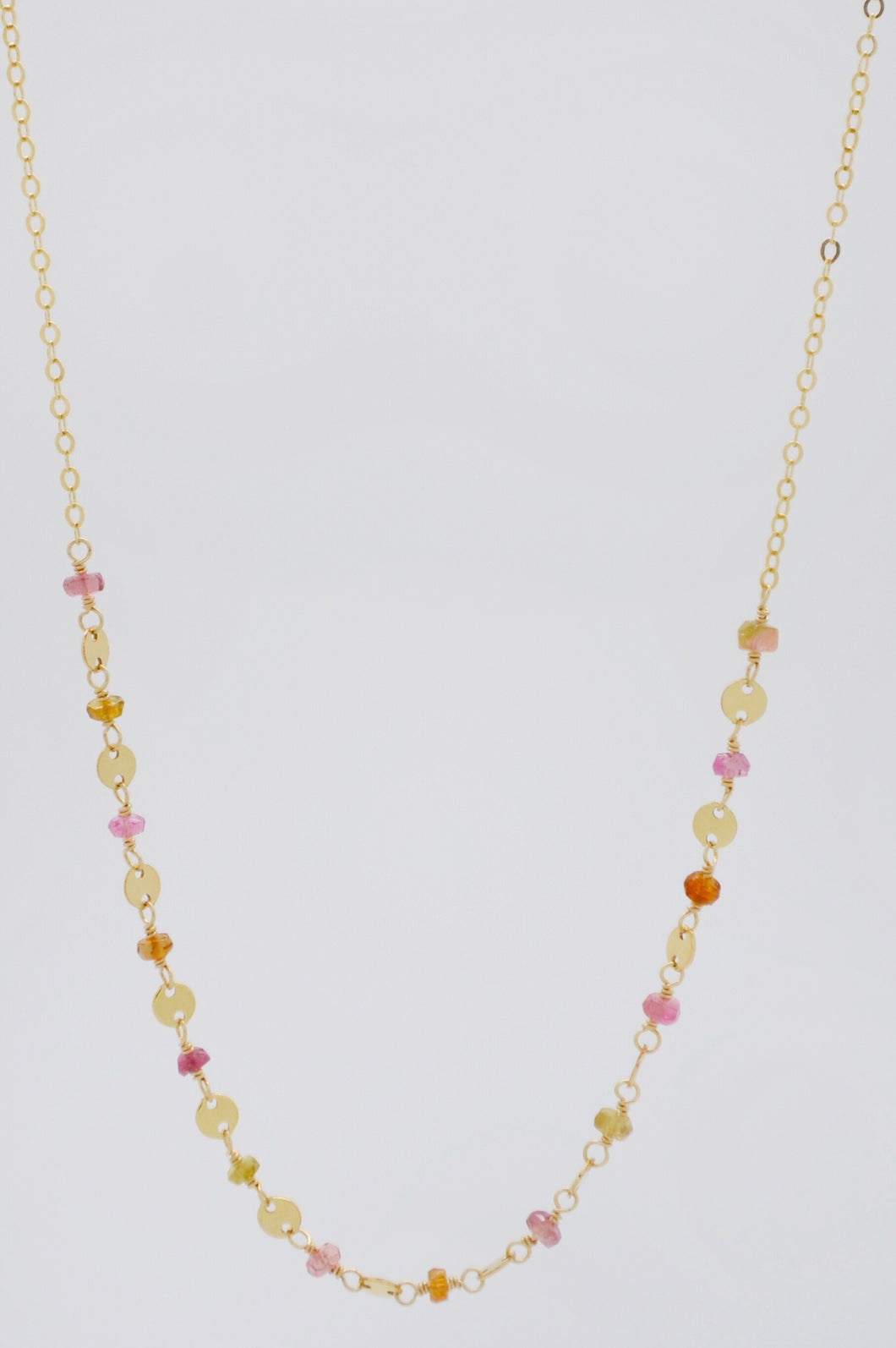 The Sunset Hues Tourmaline Necklace