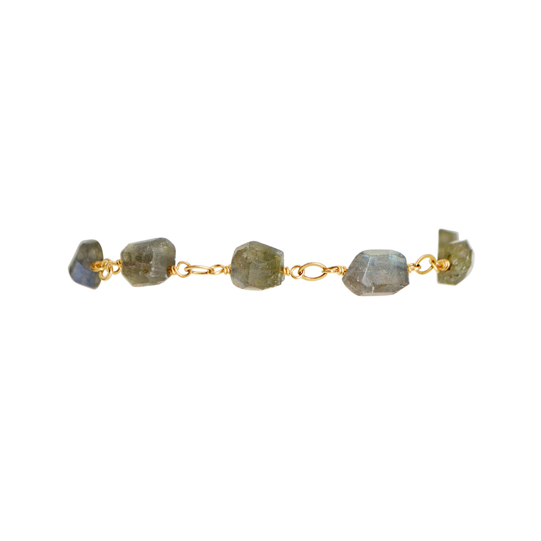 The Nugget Bracelet - Labradorite