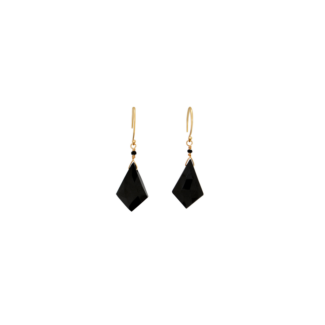 The Black Beauty Earrings - Black Spinel