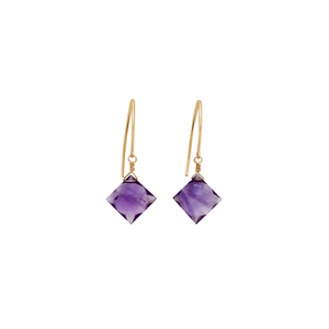 The Hook Earrings - Amethyst