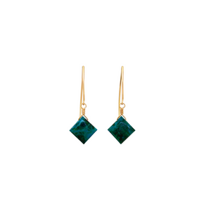The Hook Earrings - Chrysocolla