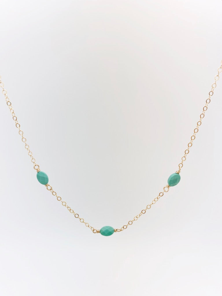 The 3 Stone Necklace - Turquoise