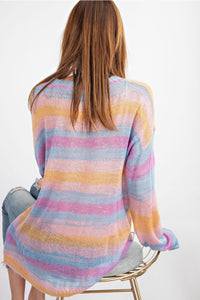Lilac Stripes Sweater