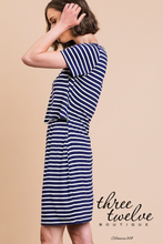 Split Striped Dress