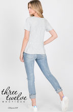 Pleated Peplum Tee