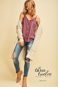 Linen Stripes Top