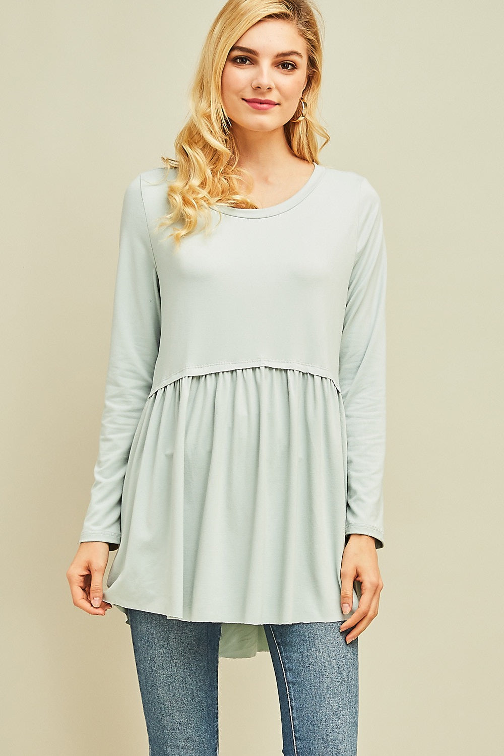 Relaxed Peplum Tunic