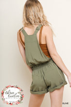 Drawstring Overall Romper