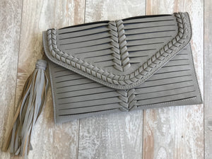 Braided Accent Line Clutch