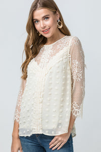 Swiss Dot Lace Top