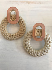 Rattan Circle Earrings