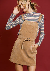 Calle Corduroy Overall Dress
