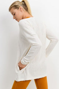 Notched Speckle Tunic