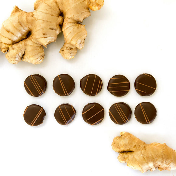 Dark Chocolate Covered Ginger - Vegan