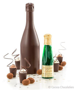 Chocolate Champagne Bottle Filled with Chocolates