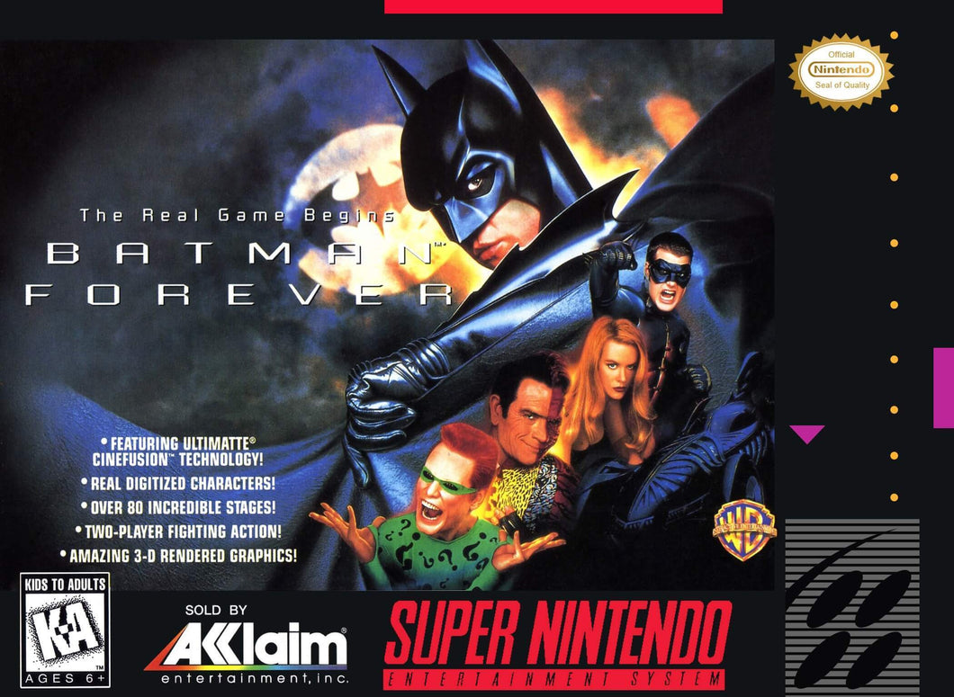 Batman Forever - US (With Retail Box) - ChampionCartridge