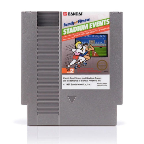 Family Fun Fitness: Stadium Events NES Game - ChampionCartridge