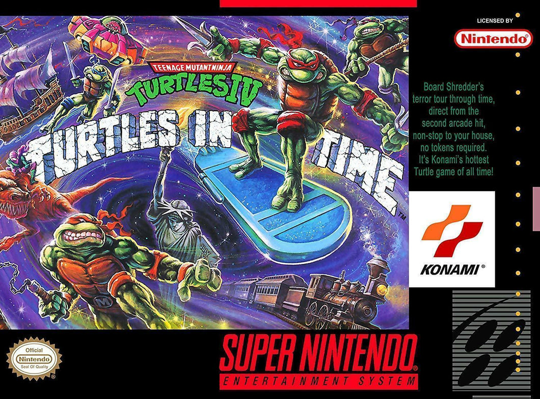 Teenage Mutant Ninja Turtles IV - Turtles in Time (With Retail Box) - ChampionCartridge