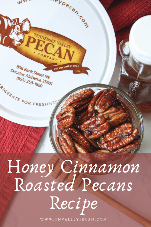 Image of honey cinnamon roasted pecans | Tennessee Valley Pecan Company