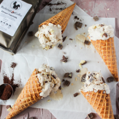 Bushytail Coffee Ice Cream | Pecan Recipes | The Procrastibaker | Tennessee Valley Pecan Company