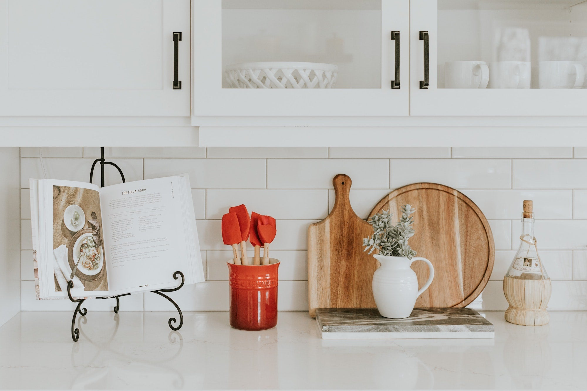 Kitchen counter with accessories | Photo by Becca Tapert on Unsplash