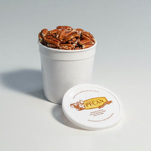 1/4 gallon container toasted pecans | gourmet pecans | tennessee valley pecan company