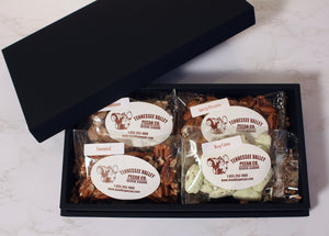 Black Luxury Gift Box - Pecan Assortment | Tennessee Valley Pecan Company