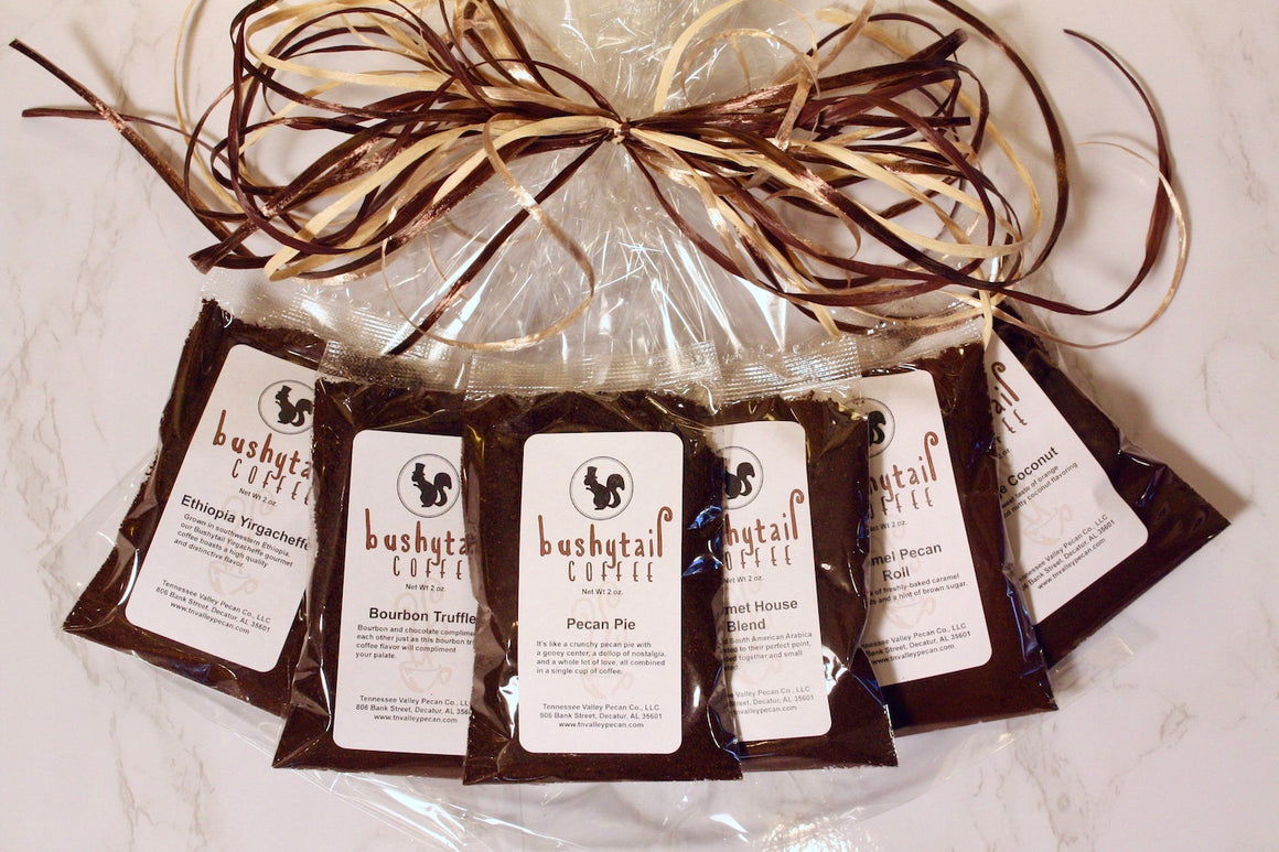Bushytail Coffee Sampler Gift Bag from Tennessee Valley Pecan Company