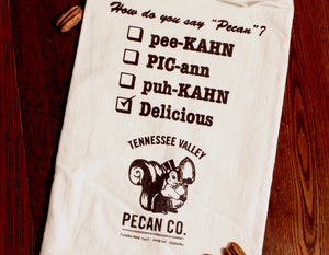 How Do You Say Pecan Flour Sack Tea Towel | Tennessee Valley Pecan Company