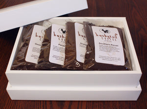 Luxury Gift Box - Coffee Assortment (Side Angle) | Bushytail Coffee from Tennessee Valley Pecan Company