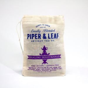 Piper & Leaf Tea Co. Healing Honeysuckle Bag 35 Grams | Tennessee Valley Pecan Company