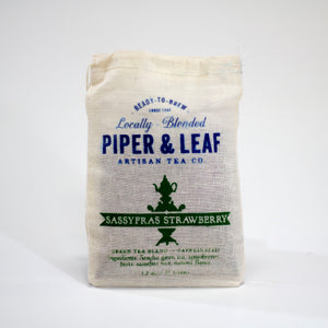 Piper & Leaf Tea Co. Sassyfras Strawberry 35G bag | Tennessee Valley Pecan Company